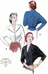 1950s Stylish Dolman Sleeve Blouse Pattern Quick n Easy BUTTERICK 5824 Smart Tailored Blouse Two Style Versions Bust 36 Vintage Sewing Pattern