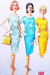 1960s Easy To Sew Slim Wiggle Dress Pattern McCALLS 5921 Proprotioned Dress Detachable Collar Bust 36 Vintage Sewing pattern
