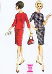 1960s Classy Two Pc Slim Dress Pattern McCALLS 7971  Easy Chic Day to Evening Dinner Two Styles  Bust 32 Vintage Pattern