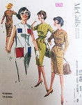 1960s Snappy Easy To Sew Sheath Dress Pattern McCALLS 6140 Front Zip 4 Style Versions Bust 34 Beginners Vintage Sewing Pattern