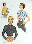 1940s Lovely Blouse Pattern McCALL 7364 Key Hole Slit Neckline or Tied Bow Dolman Sleeves Day or Evening Styles Bust 34 Vintage Sewing Pattern