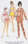 Mod 1960s Bathing Suit Beach Shirt Cover Up and Slim Pants Pattern McCALLS 8314 Cute 2 Pc SwimSuit Cigarette Slim Pants Shirt Perfect For Sheer Fabrics Bust 33 Vintage Sewing Pattern