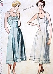 1950s Pretty Princess Line Slips Lingerie Pattern SIMPLICITY 3352  Simple To Make Bust 34 Vintage Sewing Pattern FACTORY FOLDED