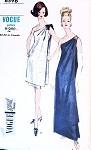 1960s Elegant One Shoulder Evening Dress or Gown Pattern VOGUE SPECIAL DESIGN 6596 Draped Overdress Stunning Style Bust 34 Vintage Sewing Pattern