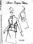 1960s Striking Tiffeau Busch Suit Pattern SPADEA DESIGNER N-1361 Flattering Stand Up Collar Jacket Chic Design Bust 35 Vintage Sewing Pattern