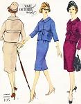 1950s ELEGANT Suit Pattern VOGUE COUTURIER DESIGN 135 Slim Skirt Short Jacket Easy Day To Evening Bust 34 Vintage Sewing Pattern