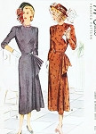 1940s FILM NOIR Dinner Cocktail Dress Pattern McCALL 7382 Stunning Cascade Fan Draped Evening Dress Bust 32 Vintage Sewing Pattern