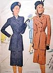 1940s Film Noir Style Slim Suit Pattern McCALL 6594 Eye Catching Tunic Length Jacket Slim Skirt Bust 30 Vintage Sewing Pattern