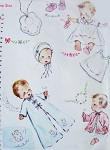 1950s ADORABLE Baby LAYETTE Pattern SIMPLICITY 4060 Infant Newborn Dress, Slip, Kimono, Sacque, Bonnet and Bib Vintage Sewing Pattern + Uncut Transfer