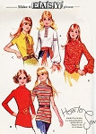 Retro 70s BOHO Blouses Tops Pattern McCALLS 2944 Easy To Sew  Bust 38 Vintage Sewing Pattern FACTORY FOLDED