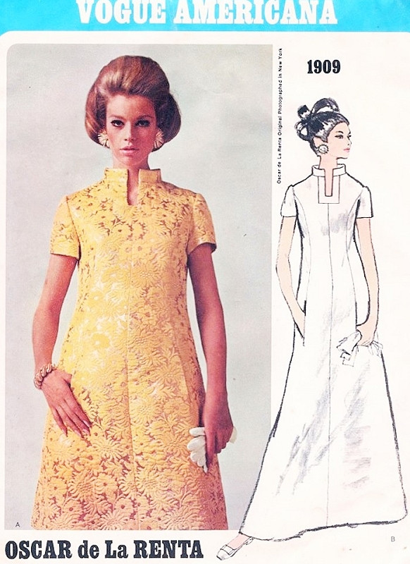 c0d188c2f9f 1960s FAB Oscar de La Renta Evening Maxi Gown or Day Dress Pattern ...