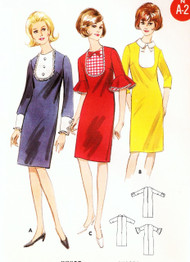 Mod 60s Slim Dress Pattern SIMPLICITY 3990 Three CUTE Style Versions Easy To Sew  Bust 32 Vintage Sewing Pattern UNCUT