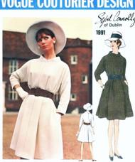 1960s MOD Dress Pattern VOGUE COUTURER Design 1991 Designer Sybil Connolly Tent Trapeze Dress Size 10 Vintage Sewing Pattern