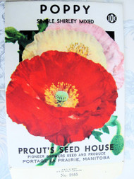 Vintage Seed Packet Poppies