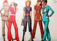 70s RETRO Tunic or Micro Mini Dress and Pants Pattern SIMPLICITY 9508 Five Style Versions Bust 38 Vintage Seventies Sewing Pattern UNCUT