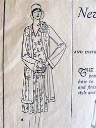 1920s ART DECO Coat and Shoulder Flower Pattern BUTTERICK 1821 Flapper Era In 3 Versions Bust 40 Vintage Sewing Pattern FACTORY FOLDED