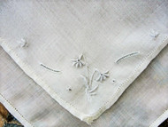 ELEGANT Raised Pale Blue Embroidery Work Vintage Hankie Handkerchief Fine Linen Wedding Bridal Bridesmaid Special Hanky Something Blue