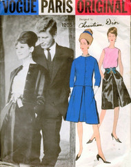 60s ELEGANCE Vogue Paris Original 1205 DIOR Evening Cocktail Suit and Blouse Pattern Classy Audrey Hepburn Style Day or Party Bust 34 Vintage Sewing Pattern
