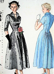 40s LOVELY Day or Evening Dinner Party Dress Pattern SIMPLICITY 2917 Figure Flattering Design Bust 32 Vintage Sewing Pattern