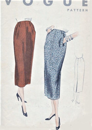 50s CLASSY Slim Skirt Pattern VOGUE 8162 Waist 30 Easy To Make Wardrobe Builder Vintage Sewing Pattern