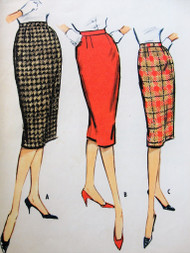 1950s Vintage CLASSIC Slim Three-Gore Skirt Pattern McCall's 5082 Wist Size 30 Sewing Pattern
