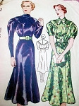 1930s SIMPLICITY 2238 DRESS PATTERN 2 BEAUTIFUL STYLES
