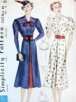 1930s LOVELY DRESS PATTERN 2 STYLES SIMPLICITY PATTERNS 2325