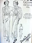 1930s  SLIM DRESS PATTERN 2 NECKLINE VERSIONS BUTTERICK 5960