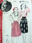 1940s Blouse and Skirt Pattern HOLLYWOOD 1272 Starlet RENEE HAAL  Vintage Sewing Pattern
