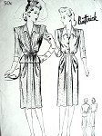 1940s 3 PC DRESS PATTERN  TUCK IN BLOUSE, SLEEVELESS JACKET, DRAPED SKIRT BUTTERICK 2011