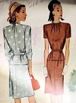 1940s PRETTY DRESS PATTERN McCALL 6112