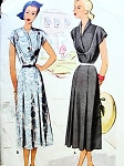 1940s PRETTY DRESS PATTERN 2 NECKLINE STYLES McCALL PATTERNS 7217