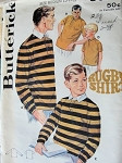1960s BOYS RUGBY SHIRT PATTERN BUTTERICK 3089