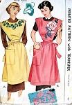 1940s FULL BIB APRON PATTERN + TRANSFER McCALL 1469