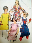 70s Aprons Pot Holder Pattern Simplicity 5377 Three Cute Styles Large Bust 34-36 Vintage Sewing Pattern FACTORY FOLDED