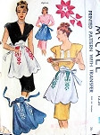 1940s Hostess Apron Pattern McCall 1231 Built Up Waist Very Glamorous, Includes Embroidery Transfer One Size Vintage Sewing Pattern
