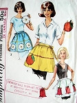 60s HALF APRONS and POTHOLDERS PATTERN SIMPLICITY 6251