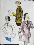 1950s BLAZER JACKET PATTERN CLASSIC STYLE VOGUE PATTERNS 8954