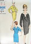 1960s SLIM DRESS PATTERN VOGUE 5999