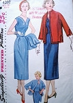 1950'S DRESS, JACKET PATTERN SIMPLICITY 4202