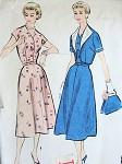 1950s DRESS, BOLERO JACKET PATTERN PRETTY NOTCHED V NECKLINE McCALLS 3235