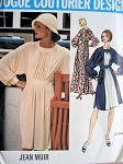 1970s Lovely JEAN MUIR Dolman Sleeve Dress Pattern Vogue Couturier Design 2804 Day or Maxi Evening Lengths Vintage Sewing Pattern  Bust 32.5