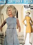 1960s Vintage VALENTINO Dress Pattern VOGUE COUTURIER DESIGN 2104 Elegant Day or Cocktail Dress Pattern Size 8 Vintage Sewing Pattern