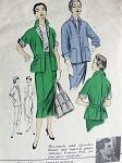 1950s   BOX JACKET SUIT PATTERN JACKET, SLIM SKIRT ADVANCE AMERICAN DESIGNER 6952