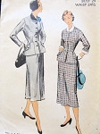 1950s SLIM SUIT PATTERN NICE  JACKET  DETAILS ADVANCE 5642