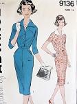 1950s  SLIM DRESS PATTERN CLASSY FIGURE HUGGING STYLE ADVANCE  9136