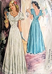1940s Beautiful Evening Gown Party Dress Pattern McCall  4401 War Time WW II  Floor Length Gown Sweetheart Neckline Flattering Style Bust 32 Vintage Sewing Pattern
