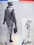 1950s RARE PATOU FIGURE HUGGING DRESS, JACKET PATTERN VOGUE PARIS ORIGINAL 1396