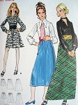 70s 2 Pc Dress and Cummerbund Pattern Butterick 5971 Mini, Midi or Maxi Skirt, Beautiful Romantic Blouse Bust 32.5 Vintage Sewing Pattern