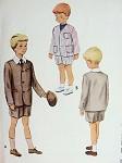 ADORABLE LITTLE BOYS SHORT PANTS SUIT PATTERN McCALL 8300